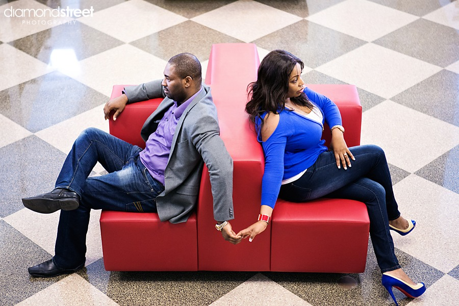 Philadlphia Free Library engagement photos