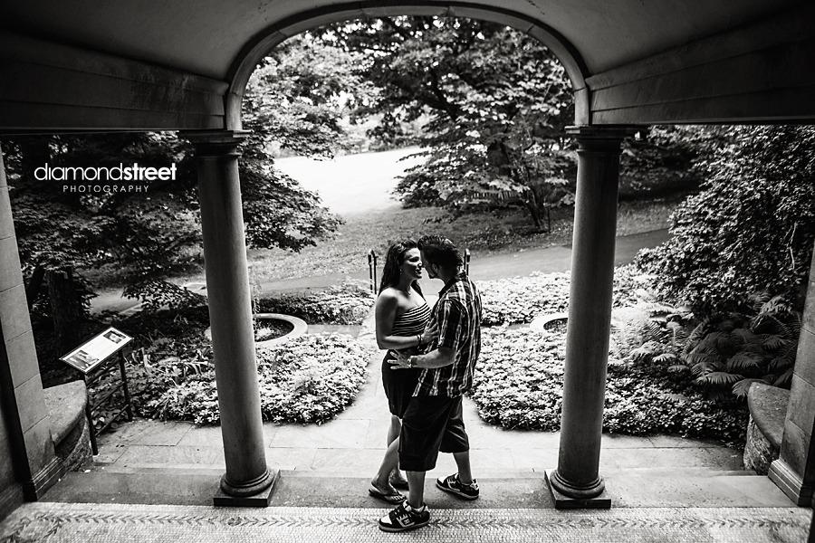Morris Arboretum engagement pictures