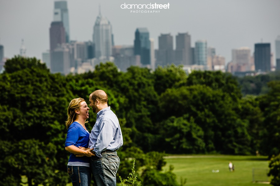 Engagement photos at Fairmont park