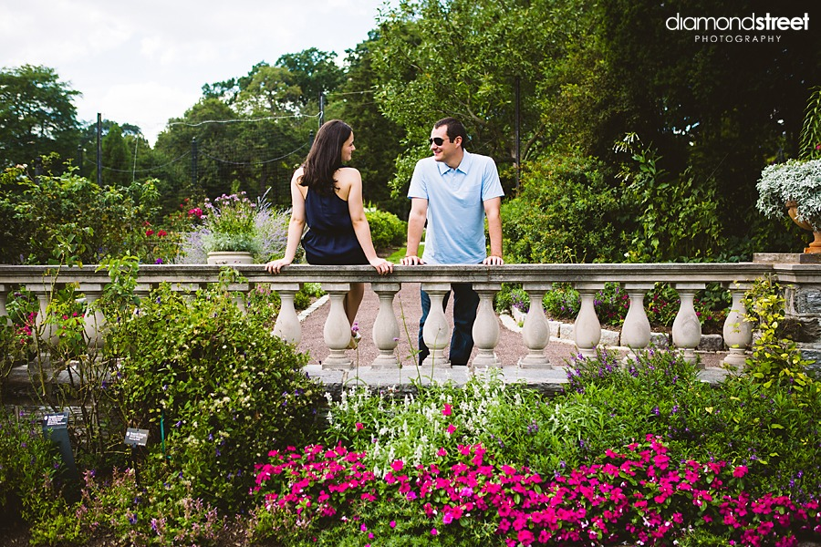 Morris Arboretum engagement photos
