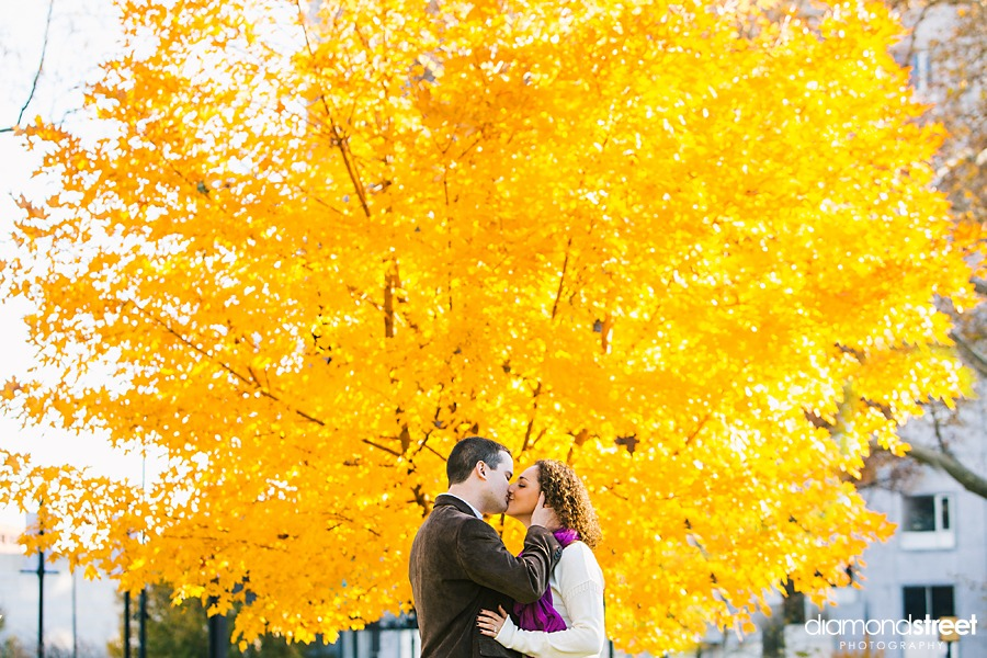 Franklin Square park engagement photos