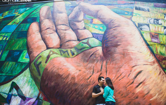 Philadelphia mural engagement photos