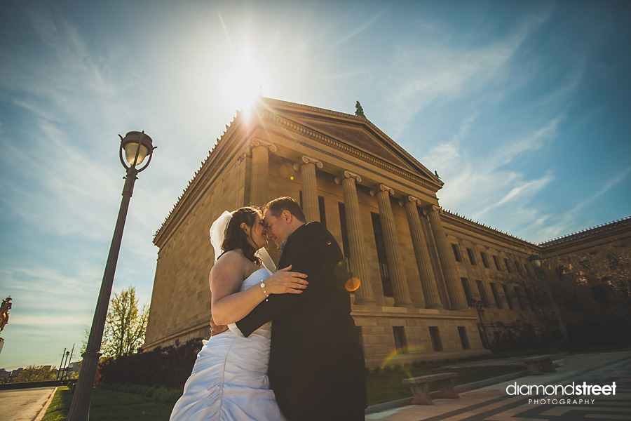 art museum of philly wedding photos