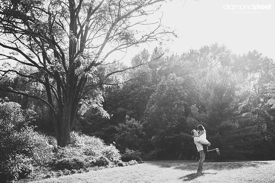 Sayen Park Botanical Garden engagement photos