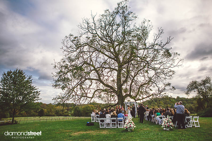 Radnor Hunt Club outdoor ceremony
