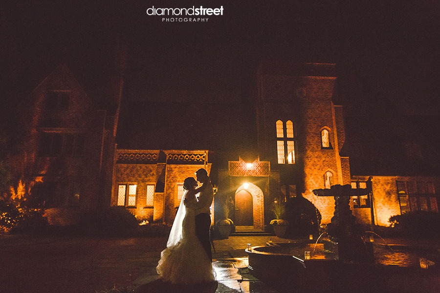 Aldie Mansion in Bucks County Wedding at night