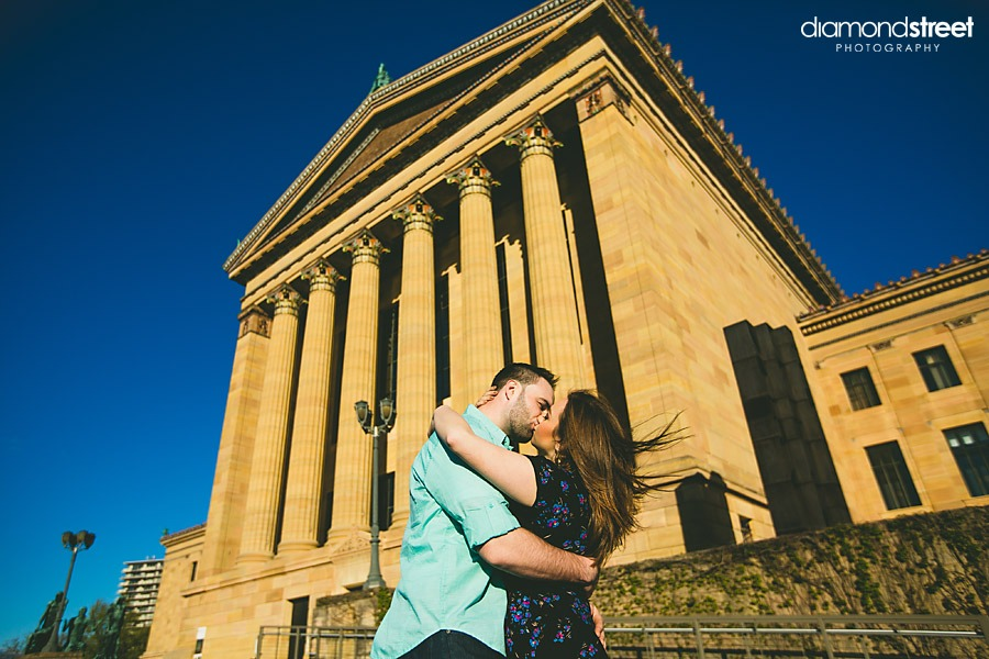 Art museum wedding pictures