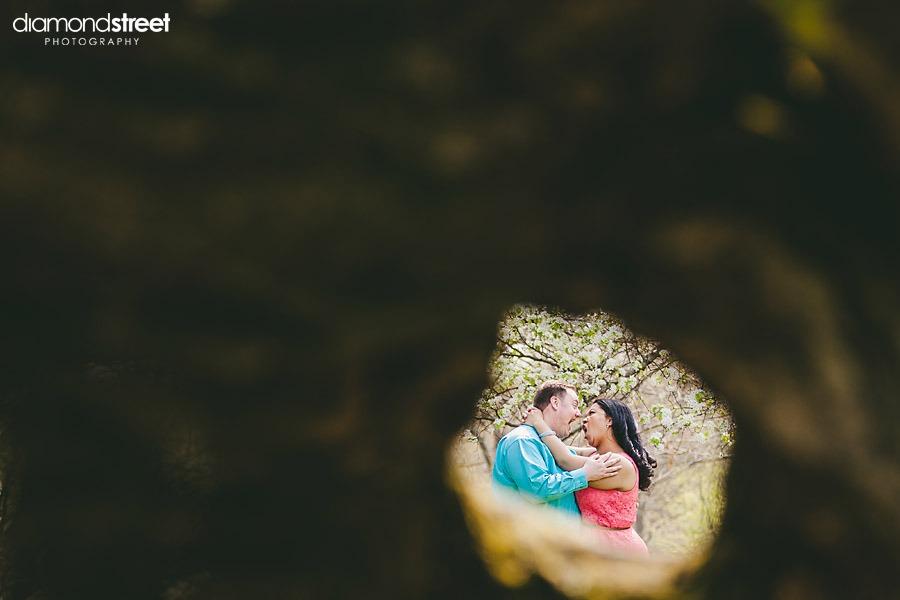 Fairmont Park engagement  photos