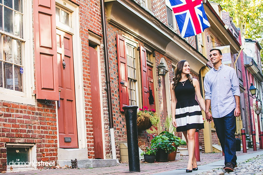 Elfreths Alley engagement photos