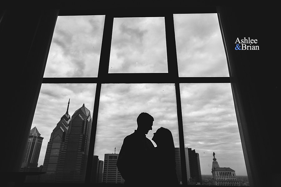 downtown philadelphia engagement photos