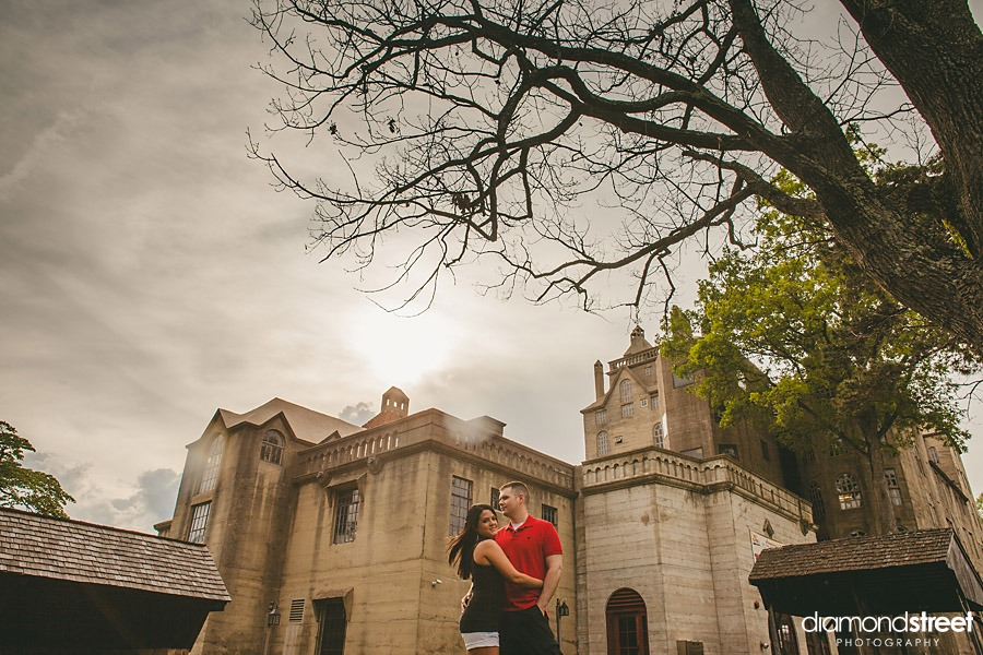 Mercer Museum engagement photographers in doylestown
