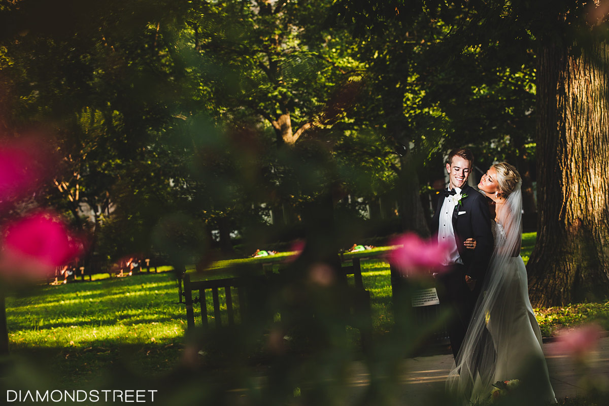 Rittenhouse square park wedding images