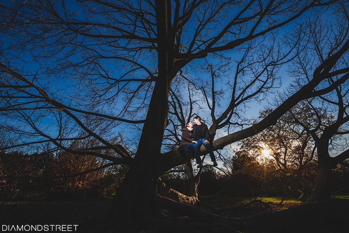 Rutgers Garden engagement photos