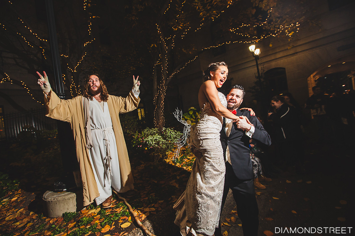 philly jesus crashes wedding