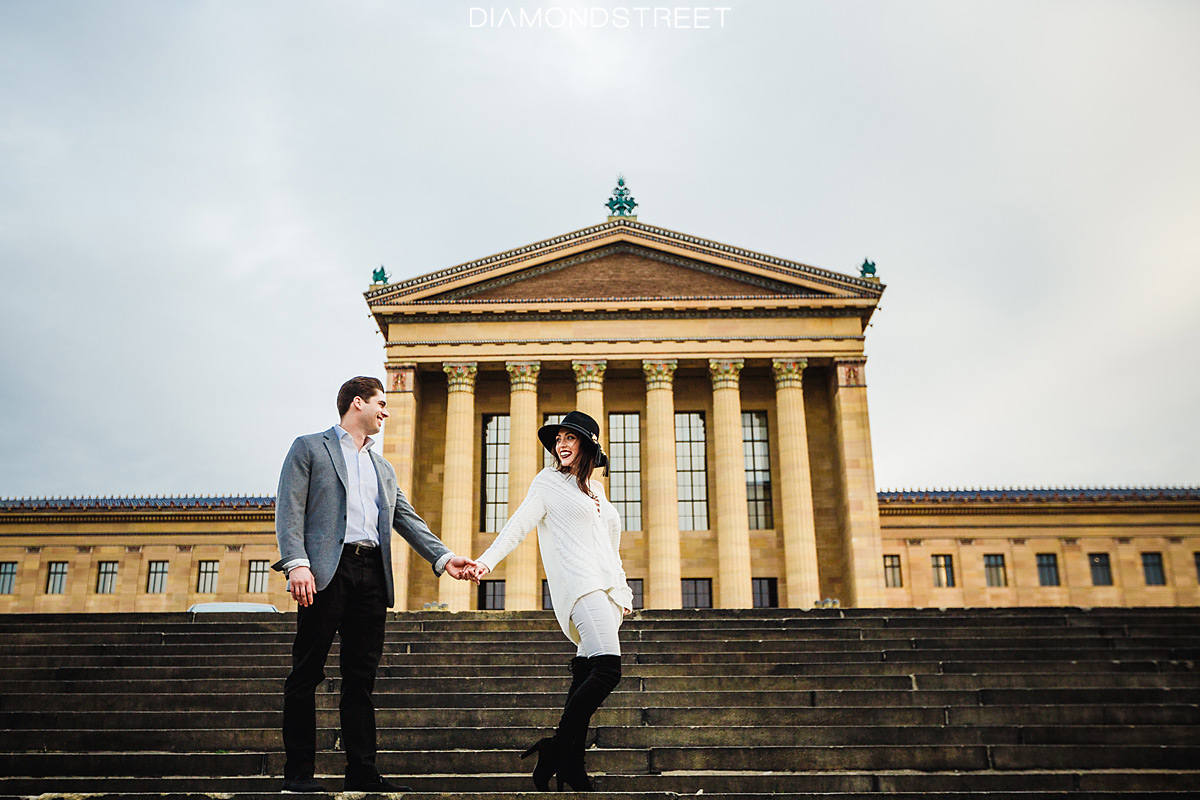 Philadelphia Art Museum Steps engagement photos