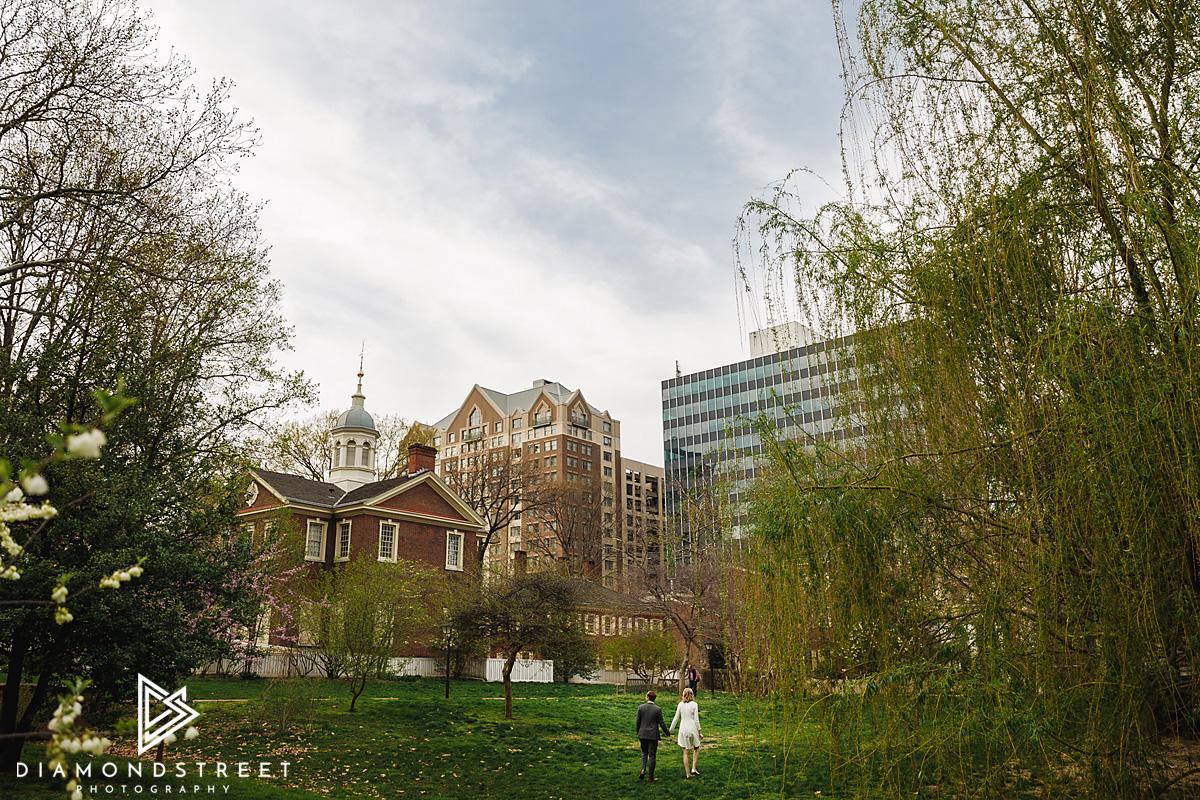 Olde City Philadelphia engagement photos