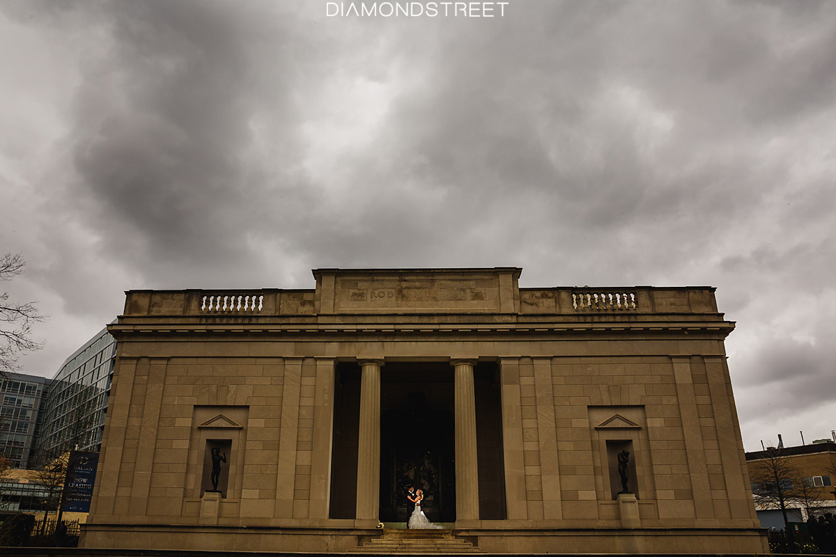 Rodin Museum wedding photos