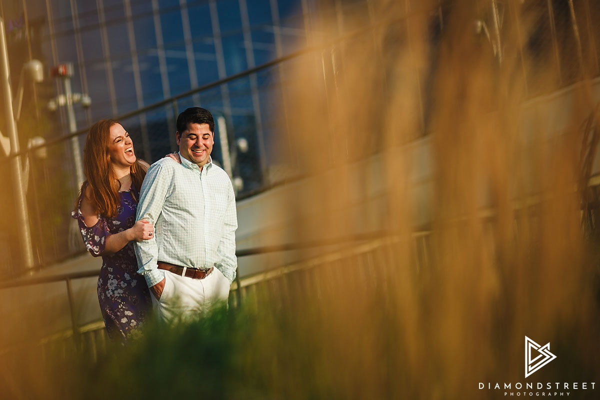 University city engagement pictures