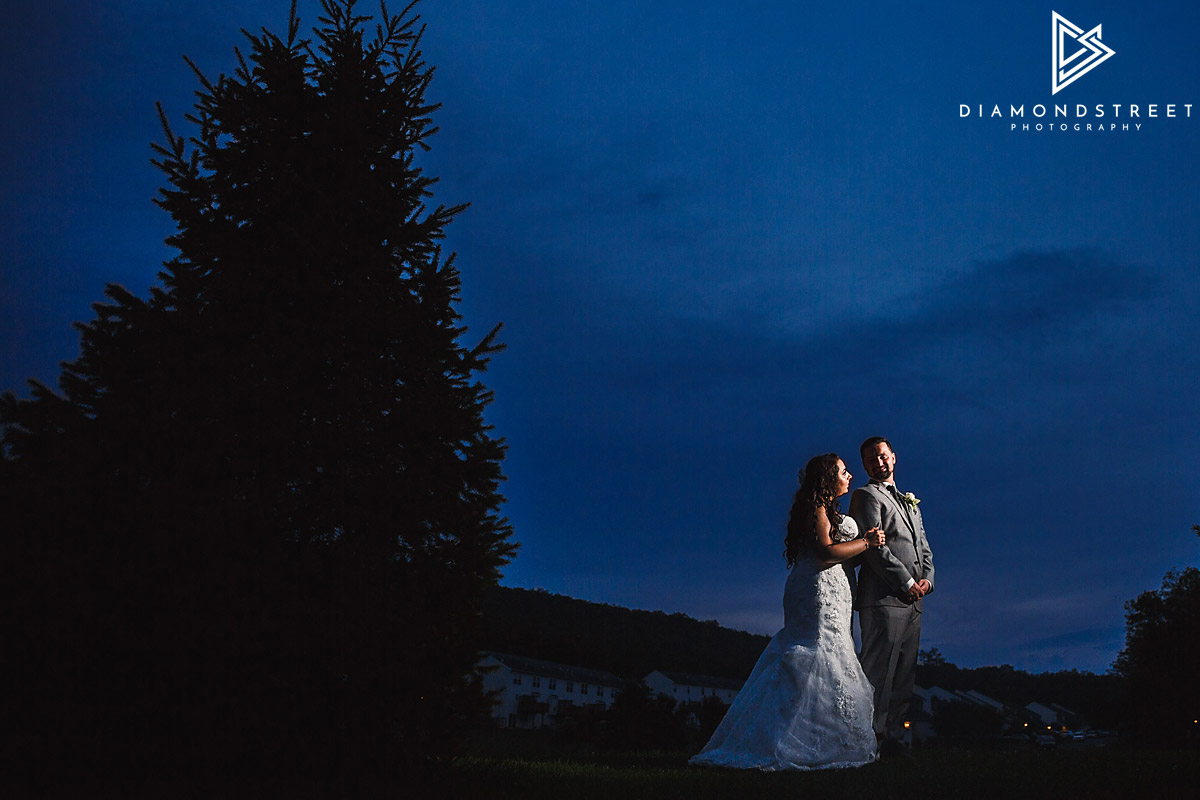 Sand Springs country club wedding photos