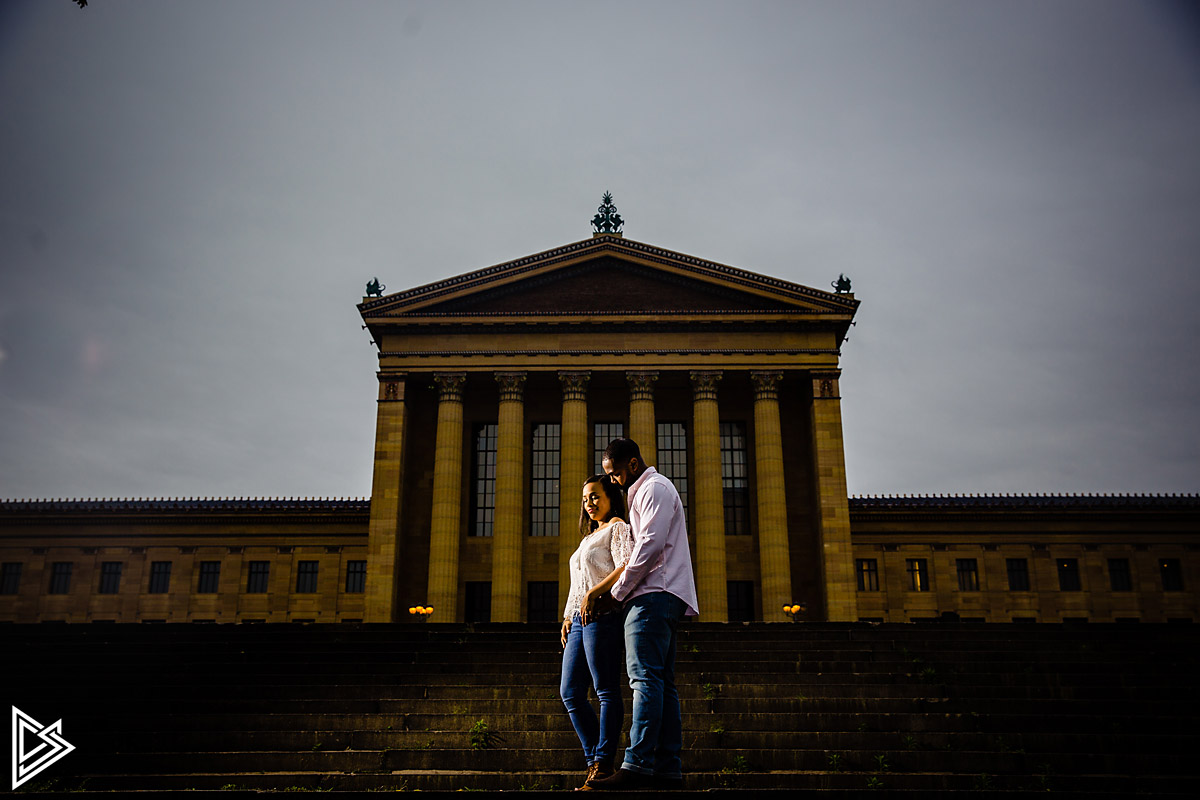 Philadelphia Waterworks and Art Museum engagement photos
