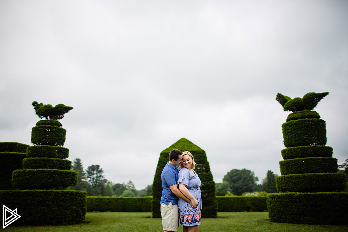 Longwood Gardens Engagement photographs