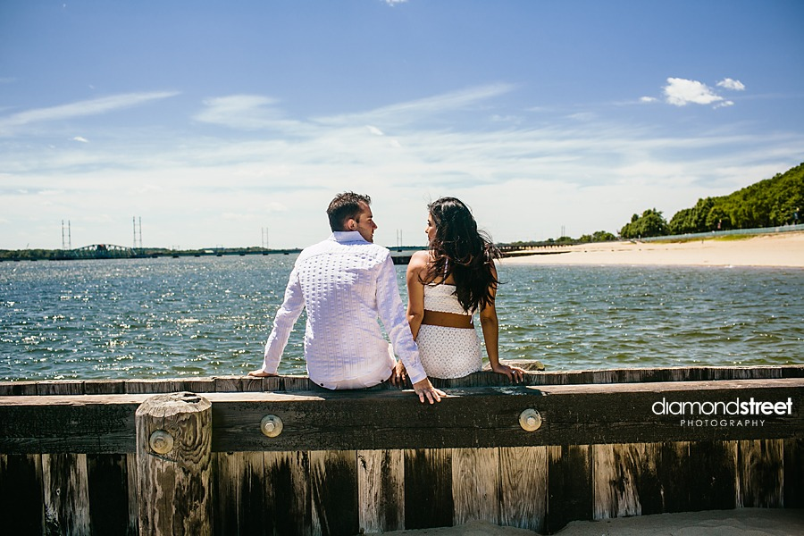Perth Amboy Beach engagement photography