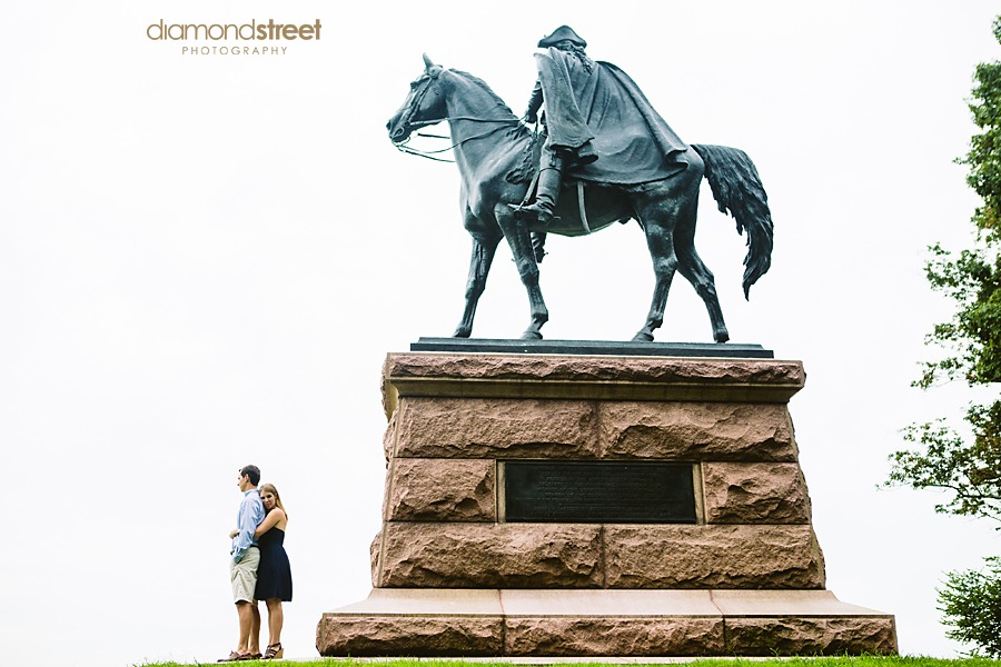 Engagement photos at Valley Forge Park