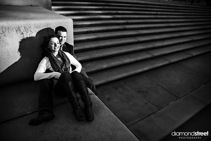 Franklin Square park engagement photos