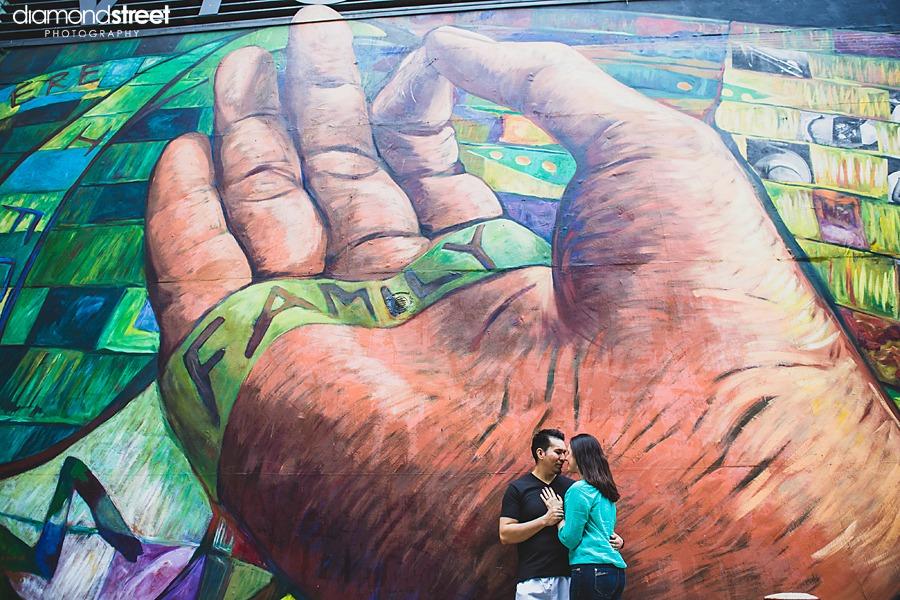 Philadelphia mural engagement photos
