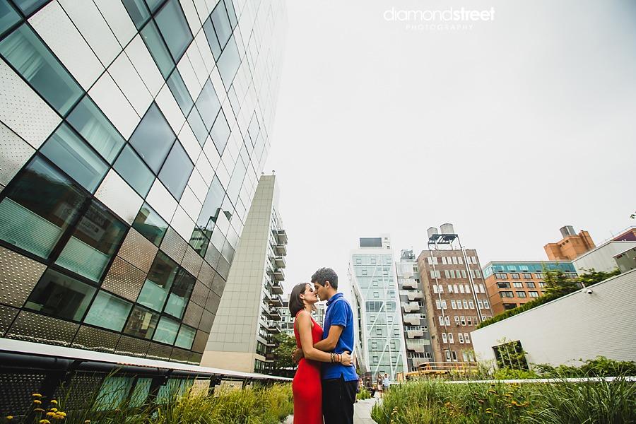 New york highline engagement photography