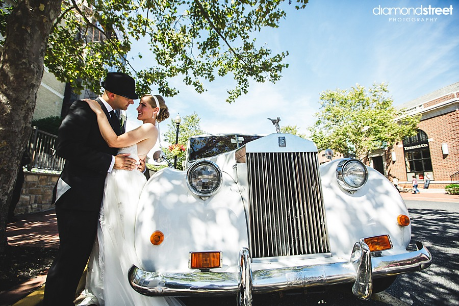 Water Witch Club wedding photos in Rolls Royce