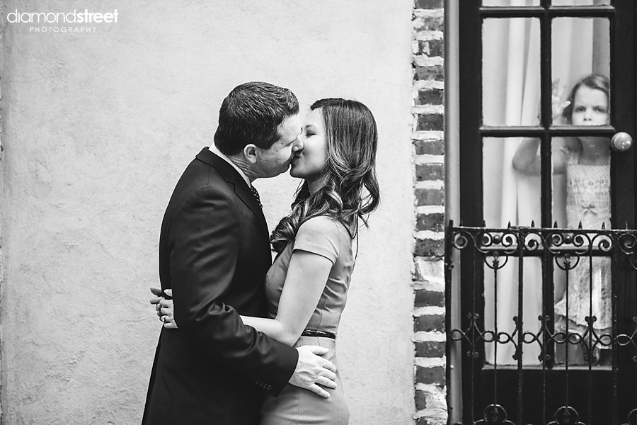 Rittenhouse square engagement photos