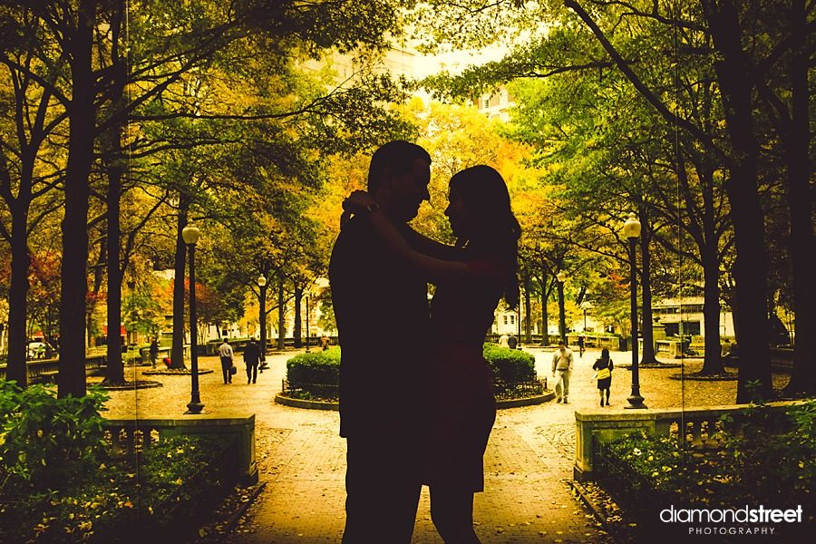 Rittenhouse square engagement photographer