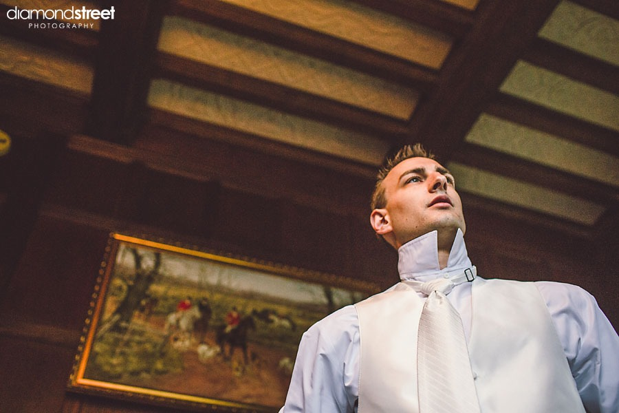 Aldie Mansion in Bucks County Wedding groom