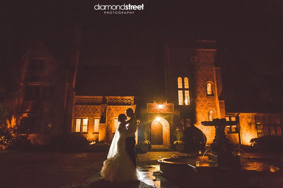 Aldie Mansion in Bucks County Wedding at night