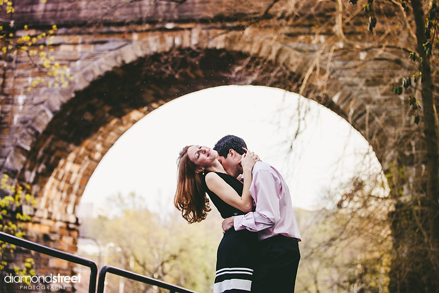 wissahickon trail engagement photos