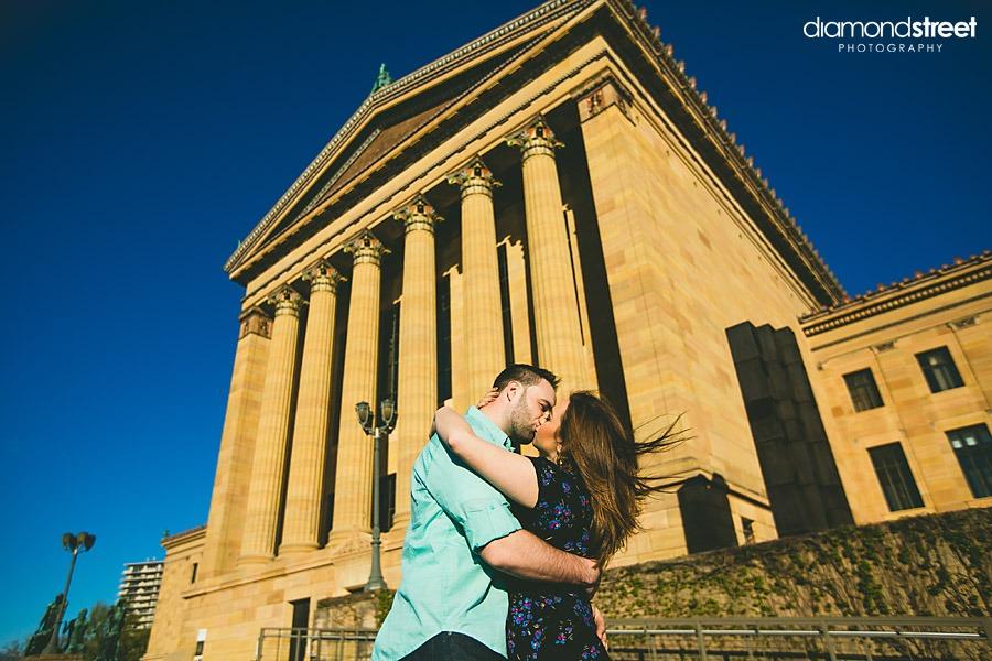Art museum wedding pictures