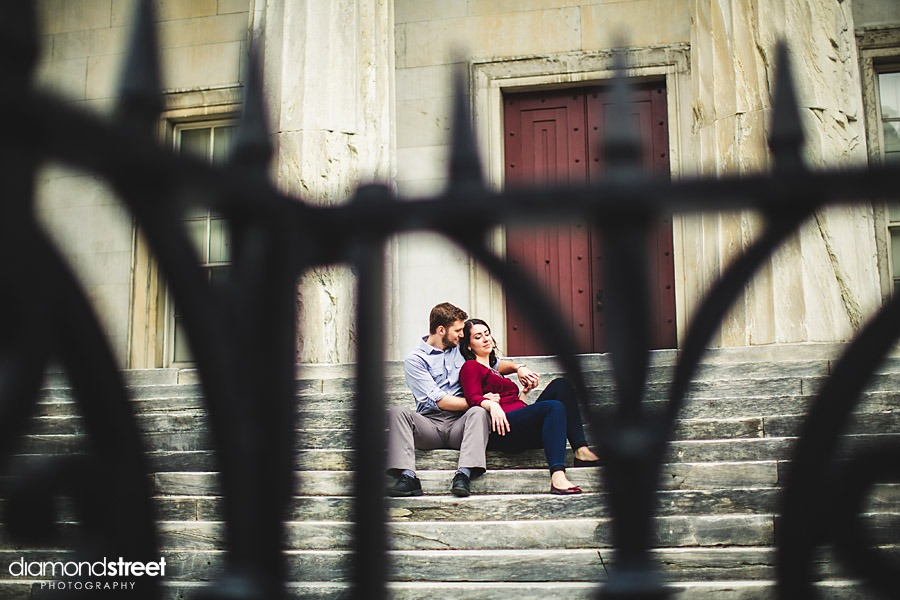 Old city engagement photos