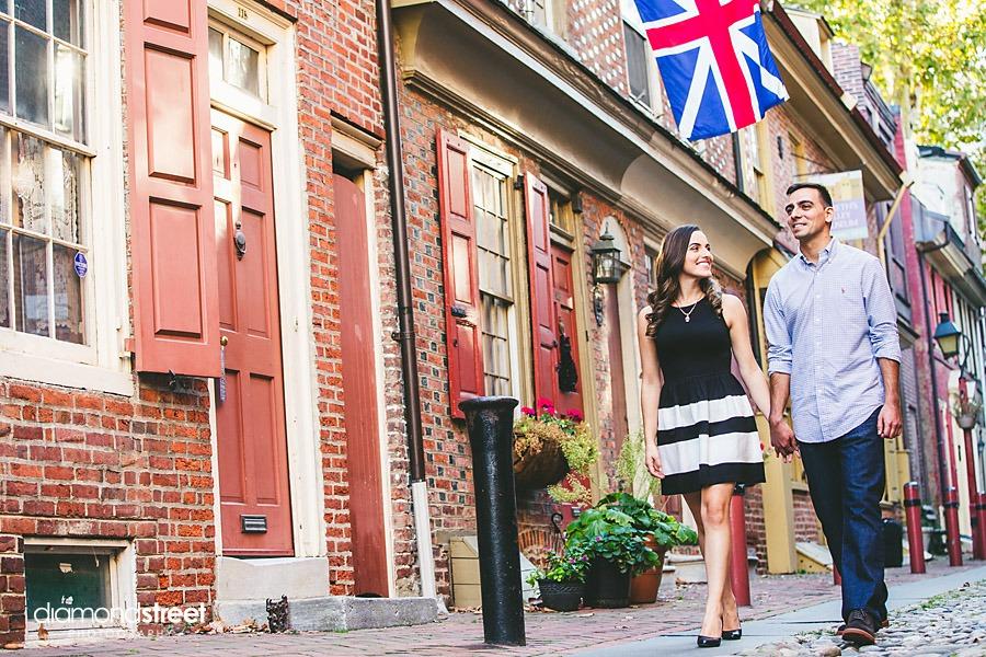 Elfreths Alley engagement photos