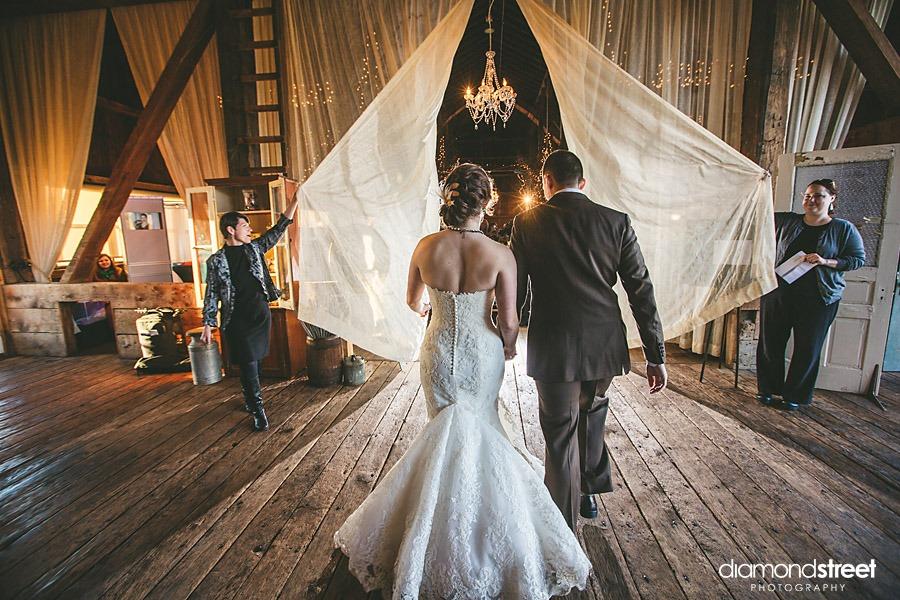 friedman farms wedding entrance
