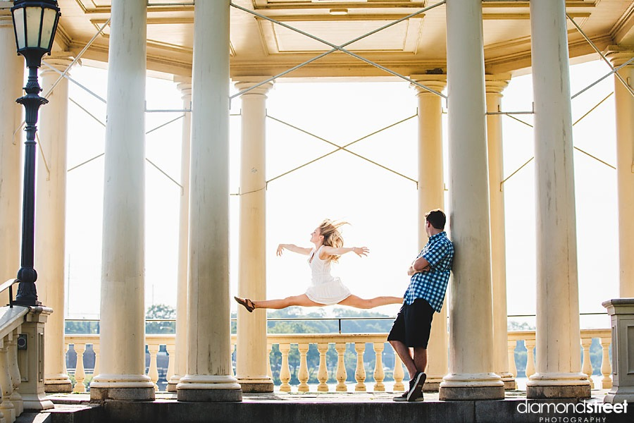 Philadelphia Waterworks Engagement session