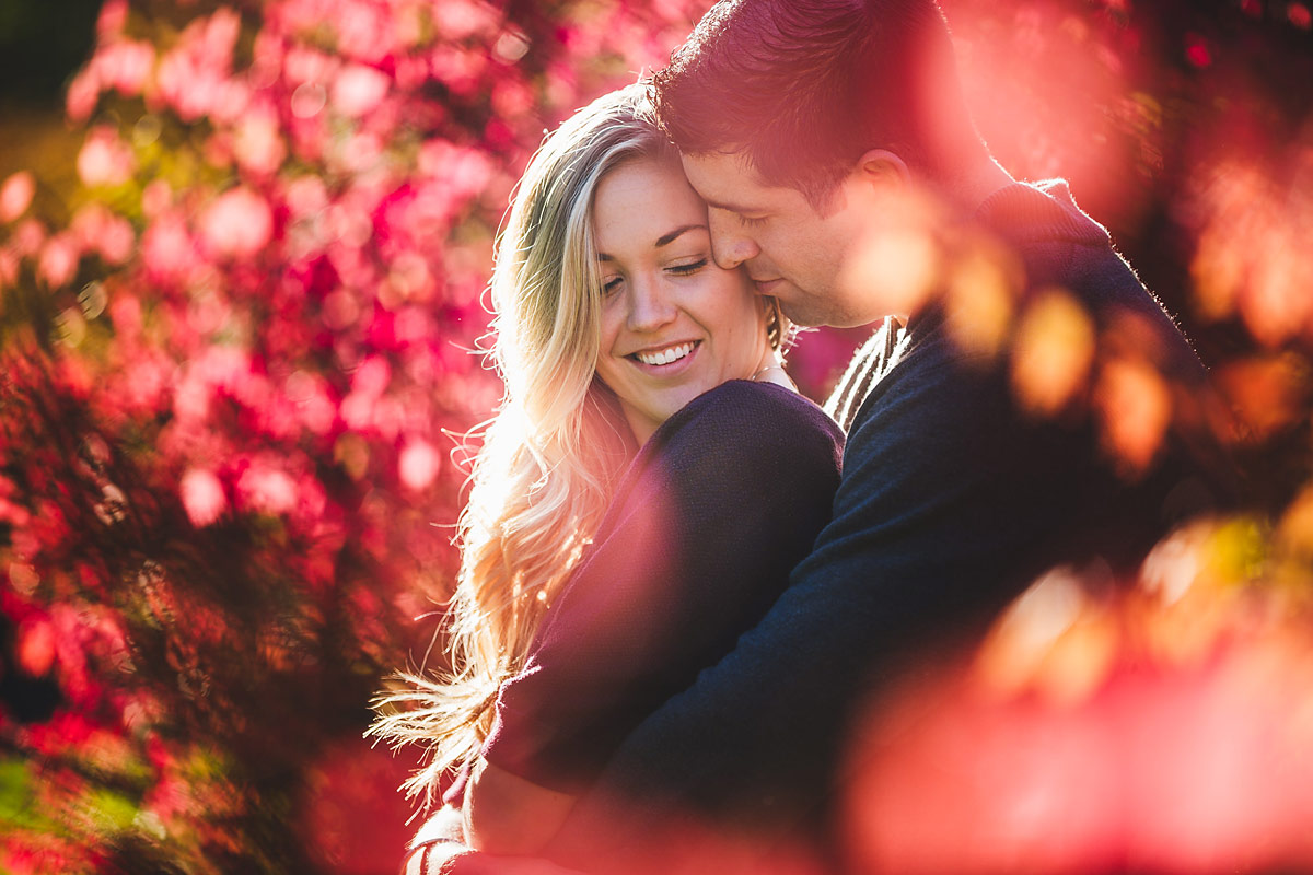 longwood gardens engagement photos in kennett square