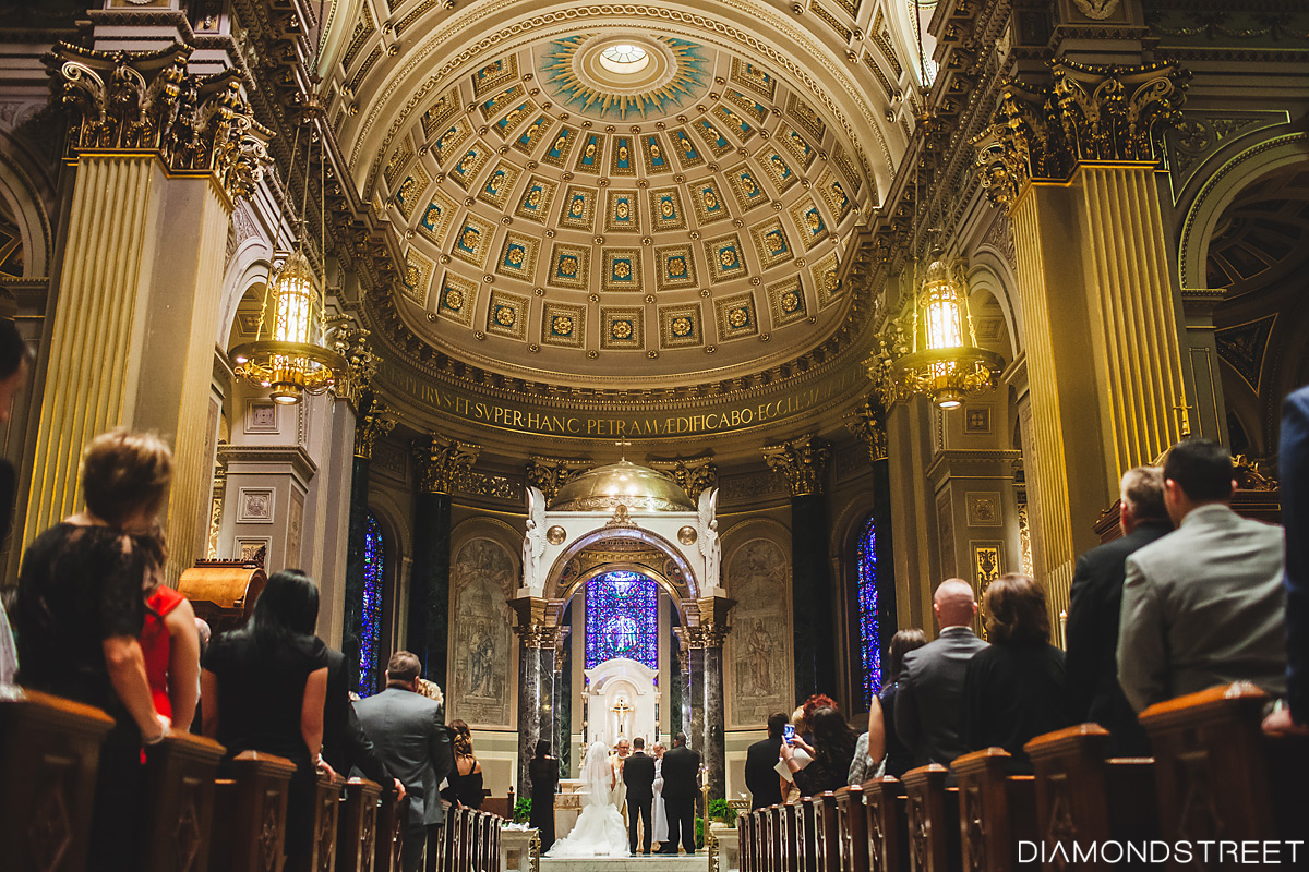 Cathedral Basilica of Saints Peter and Paul wedding photo