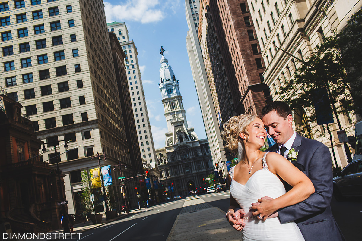 Philadelphia Broad Street wedding photo