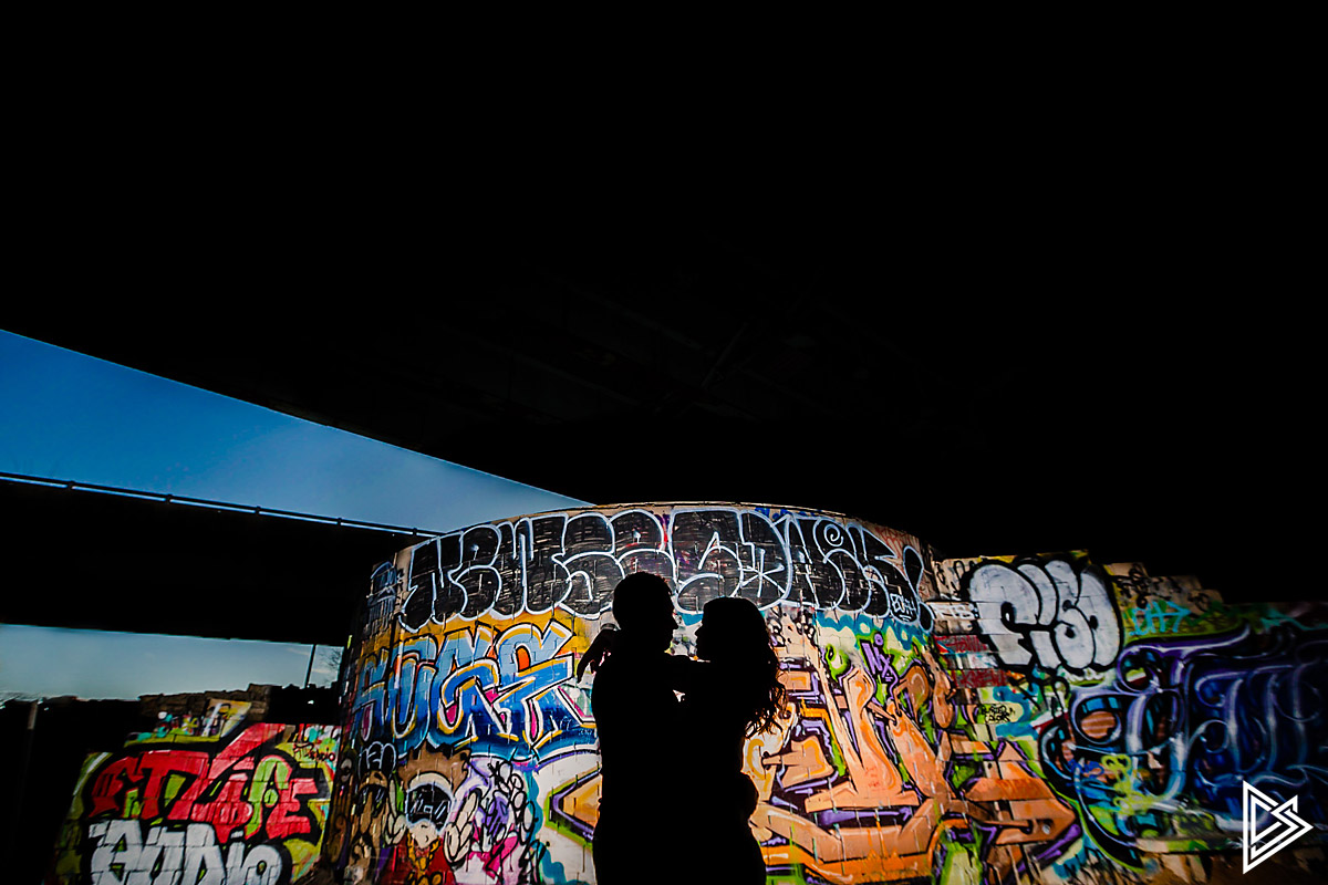 Philadelphia Skate park engagement photos
