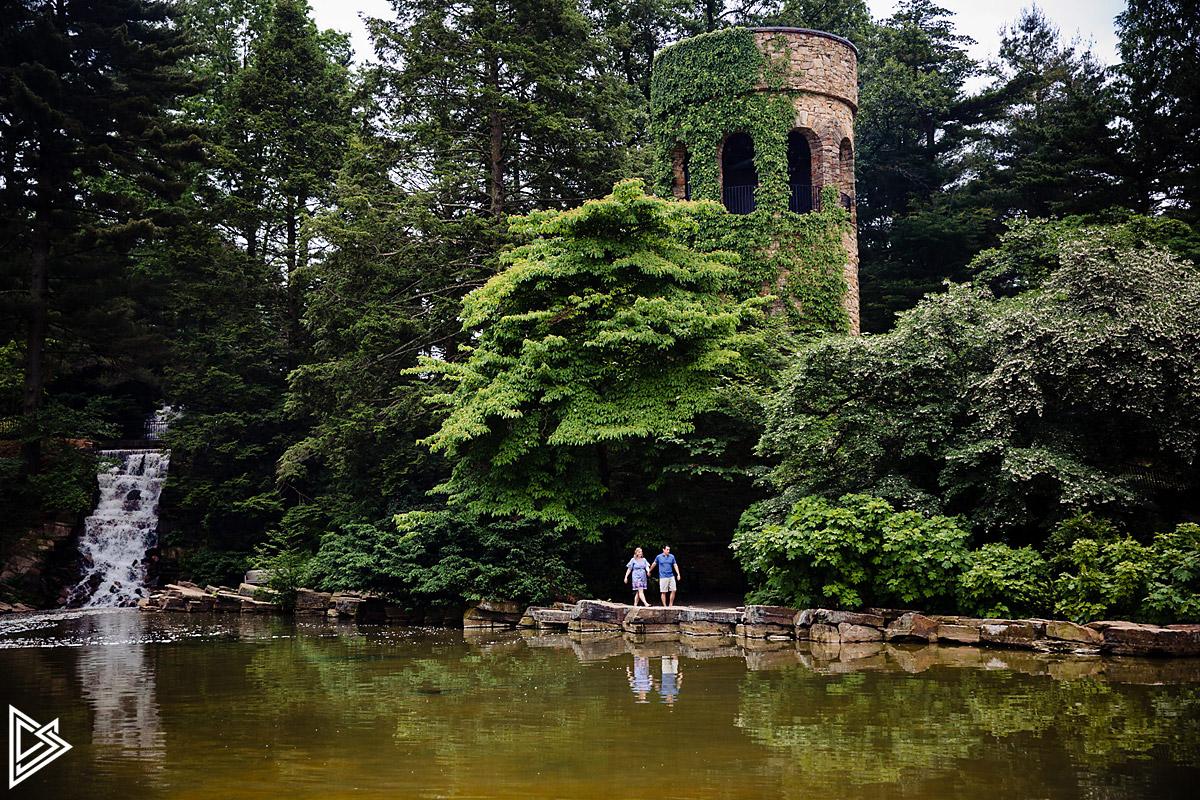 Longwood Gardens Engagement photographs